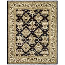 wool area rug awesome safavieh hand tufted heritage black ivory wool area rugs