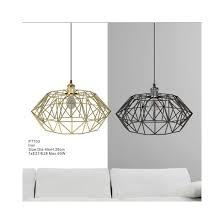 industrial cage pendant light chandelier in black color