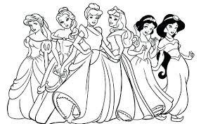 Princess Coloring Pages 2 Princesses With Crown Princess Coloring