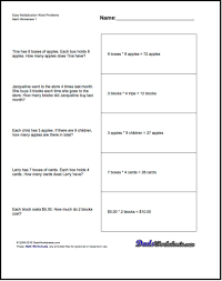 first grade math printable word problem worksheets math word
