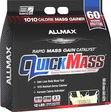 AllMax Nutrition - <b>QuickMass Rapid Mass Gain</b> Catalyst Vanilla - 12 ...