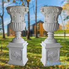 large antique garden outdoor urns and