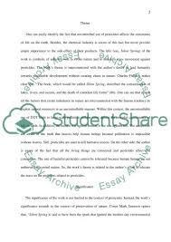 silent spring rachel carson essay example topics and well  silent spring rachel carson essay example