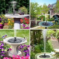 Fountain Lights And Pumps Solar Birdbath Fountain Pump Replacement 1 5w Smart Solar