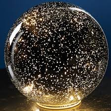 lighted mercury glass sphere silver