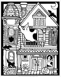 Gratuit Halloween Maison Hantee Coloriage Halloween Coloriages