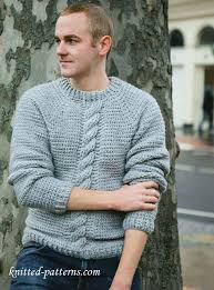 Men's Sweater Patterns Unique Free Crochet Pattern Sweater For Men Free Knitting Patterns