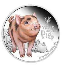 2019 Chinese Zodiac Year of The Pig Coins Australia Elizabeth II ...