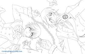 black butler coloring pages new anime manga to color of png fit 2000