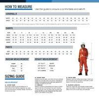 Frc Coverall Size Chart Coverall Size Chart