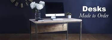 wood office desks. Oldman Industrial Reclaimed Wood Desk Office Desks