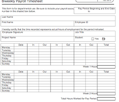 Payroll Time Sheets Free 6 Free Timesheet Templates For Tracking Employee Hours