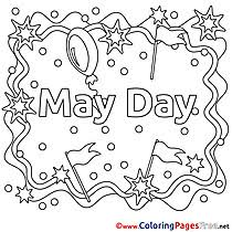 Small Picture Workers Day coloring pages