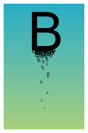 the letter b by paperairplane