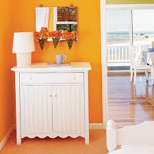 Bedroom Orange White Furniture