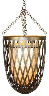 gold cage pendant hanging light chandelier lattice shell contemporary lighting