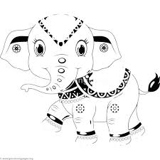 Extraordinay Cartoon Elephant Coloring Pages F9304 Prime Baby