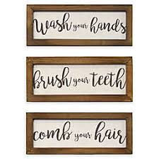 Shop mirrors & wall art for brands that wow at prices that thrill. Bathroom Laundry Room Wall Art Bed Bath Beyond