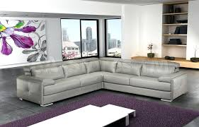 modern italian furniture nyc. Ash Gray Leather Sectional Sofa Modern Italian Furniture Nyc L