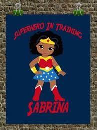 African American <b>Superhero</b> Set of 4 Wall Art Prints - Superman ...