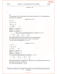 rs agarwal class 10 solutions chapter 03 linear equations in two variables part 1