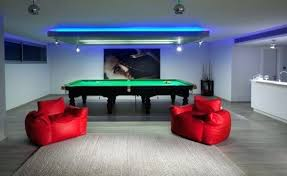 game room lighting. Game Room Lights View In Gallery Plush Seating And Bright Neon Are Ideal Fits For Lighting