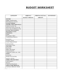 Budget For Young Adults Simple Project Budget Template Simple Budget Template For