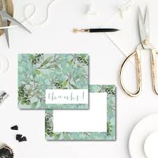 Watercolor thank you cards Diy Watercolor Stacey Holbrook Design Greenery Watercolor Thank You Cards Staceyholbrook Design