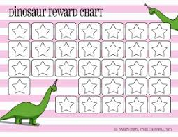 Childrens Sticker Chart Free Dinosaur Reward Charts Pink Blue Free Printable