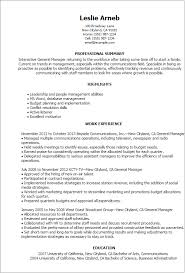 Resume Templates: General Manager