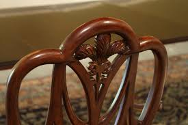 Mahogany Sweet Heart Shield Back Dining Chairs - Shield back dining room chairs