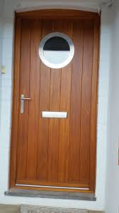 Hardwood Door & Frame with Stainless Steel Porthole