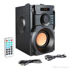 Satın Al A100 Büyük Güç Bluetooth Hoparlör Kablosuz Stereo Subwoofer Ağır  Bass Hoparlörler Müzik Çalar Destek LCD Ekran FM Radyo TF, TL295.77