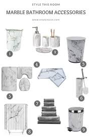folding laundry basket with stylish marbling design ceramic marble bathroom accessories set stainless