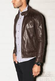 forever 21 faux leather biker jacket you ve been added to the waitlist in brown for men lyst