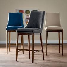 Belham Living Carter Mid-Century Modern Upholstered Bar-Height Stool -  RH151204-30