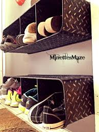 Shoe Organizer Ideas Remodelaholic Top Ten Shoe Storage Ideas And Link Party