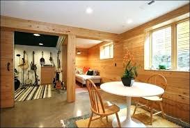 unfinished basement wall ideas oak wood paint