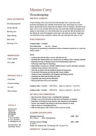 housekeeping resume templates housekeeping resume sample cleaning templates job description