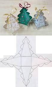 Diy Christmas Tree Box Template Gift Boxes Diy Christmas