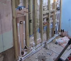 false stud wall hiding bathroom pipes to concealed shower