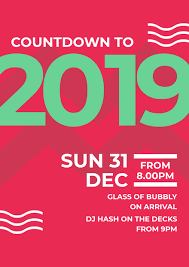 countdown templates countdown to 2019 red green and white patterned template easil