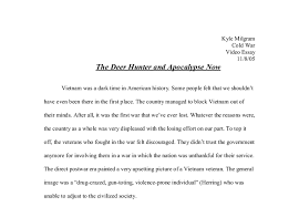 the deer hunter and apocalypse now a level history marked by  document image preview