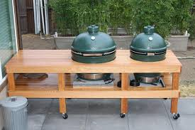 interior big green egg table plans diy outdoor kitchen