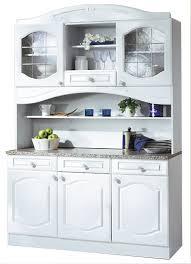 Küchen-Buffetschrank LIST - 150 cm breit - Weiß Küche BUFFET LIST