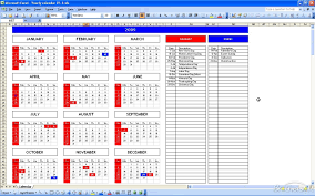 Yearly Event Calendar Template Calendar Spreadsheet Template Free Weekly Schedule Templates For