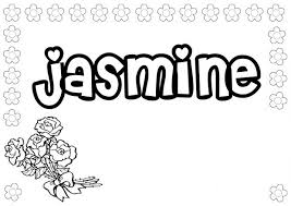 Small Picture Name coloring pages jasmine ColoringStar