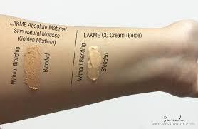 review smallnhot 2016 03 makeup showdown lakme mousse foundation vs lakme cc cream html