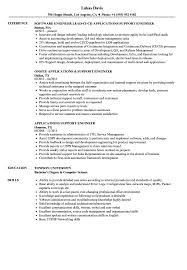 Application Support Engineer Resume Sample Applications Support Engineer Resume Samples Velvet Jobs 2