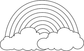 Small Picture A Simple Drawing of Rainbow Behind the Cloud Coloring Page